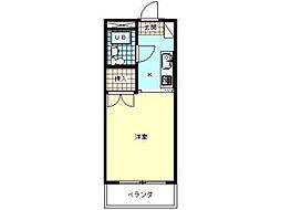 ラフィーネ昭島[2階]の間取り