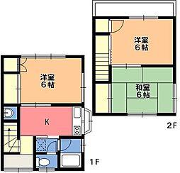 松本アパート[2階]の間取り
