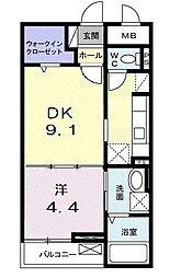 ロイヤルステイツ[2階]の間取り