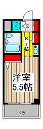 ジョイフル浦和仲町[3階]の間取り
