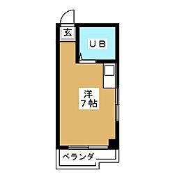 シャルムビル[4階]の間取り