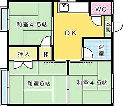 塩崎アパート[201号室]の間取り