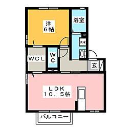 パークサイド四ツ谷[2階]の間取り