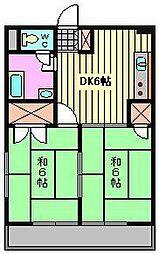 東浦和マンション[3階]の間取り