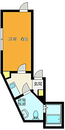 JR総武本線 新小岩駅 徒歩5分の賃貸アパート 2階1Kの間取り