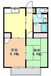 第二 ユタカハイム[202号室]の間取り