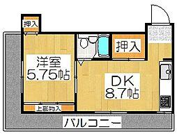 ヤングハイツ[4階]の間取り