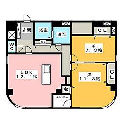 フローレスタナベ[2階]の間取り