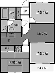 パルナスG[4階]の間取り