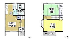[タウンハウス] 静岡県浜松市南区小沢渡町 の賃貸【/】の間取り