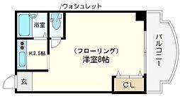 タイホウハイツ敷津2番館[8階]の間取り