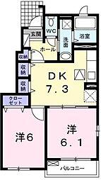 ベルメゾンフローラ[1階]の間取り