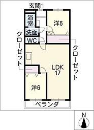 ルーラルハウス[2階]の間取り
