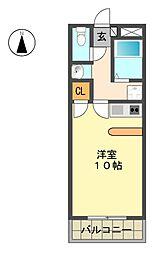 愛知県日進市梅森町北田面の賃貸マンションの間取り
