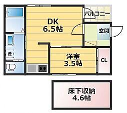 (仮称)ハーモニーテラス御厨中2丁目B棟[1階]の間取り