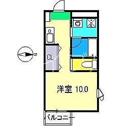 パルファム[2階]の間取り