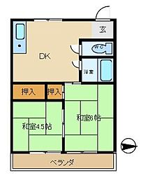 陶都マンション[306号室]の間取り
