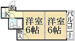 ハイツ芙蓉[2階]の間取り