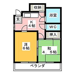 コーポ高崎[2階]の間取り