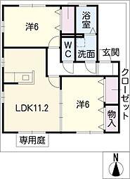 アネックス豊VI[2階]の間取り