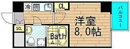 ザ・パーククロス阿波座[10階]の間取り