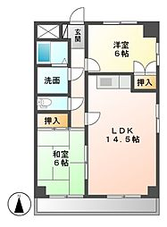 シャトルSUKEMITSU[3階]の間取り