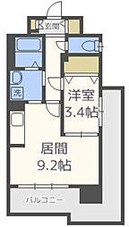 スカイシャトレ箱崎南[4階]の間取り
