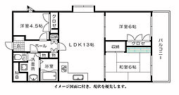 ライオンズマンション橋本町[207号室]の間取り