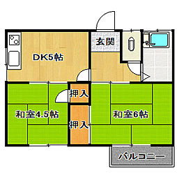 第三清風荘[2階]の間取り