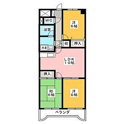 チェリーミニオン[4階]の間取り
