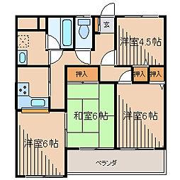 プライムガーデン1[3階]の間取り