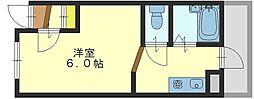 清洲プラザ高井田(2号)[10階]の間取り