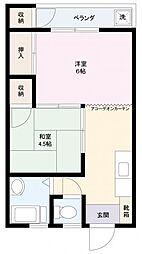 さくらぎマンション[2階]の間取り