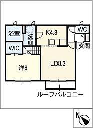 姫小川町新築アパート東棟[103号室]の間取り