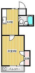 グロリアハイツ[2階]の間取り