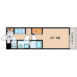 奈良県橿原市大久保町の賃貸アパートの間取り