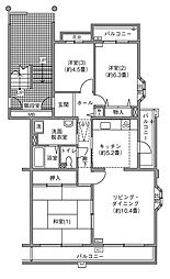 UR千葉ニュータウン プロムナード桜台3番街[3-501号室]の間取り