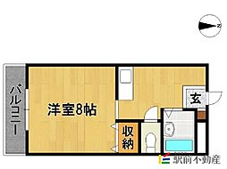 エスパシオ江頭I[106号室]の間取り