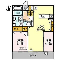 仮称D−Room浜寺石津町2[3階]の間取り