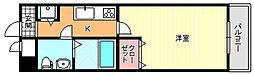 大阪府大阪市東住吉区鷹合3丁目の賃貸マンションの間取り