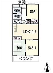 キリンハウス[2階]の間取り