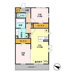 (仮)D-room飯山満町 A[301号室]の間取り