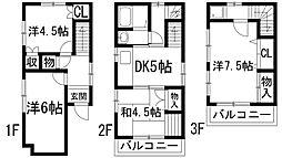 [一戸建] 兵庫県宝塚市泉町 の賃貸【/】の間取り