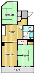 愛知県名古屋市千種区霞ケ丘2丁目の賃貸マンションの間取り