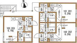 ハーミットクラブハウス パーシモンテラス弘明寺[1階]の間取り