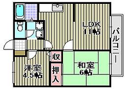 齋藤ハイツ[202号室]の間取り