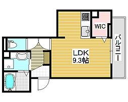 VILLA北花田[3階]の間取り