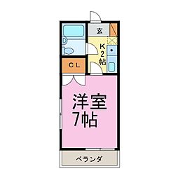 ボーディングハウス[1階]の間取り