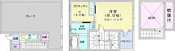 仙台市営南北線 八乙女駅 徒歩19分の賃貸アパート 1階1Kの間取り