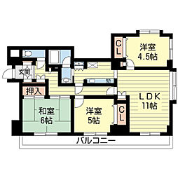 新潟県新潟市中央区本町通11番町の賃貸マンションの間取り